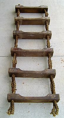 Salvaged 5 1/2 Foot Ship's Jacobs Rope Ladder