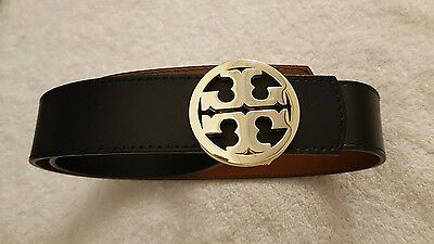 Tory Burch Reversible Leather Belt - Black/Brown- Size 30 - NWD