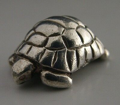 Quality Solid Sterling Silver Tortoise Figure 1994 Unusual