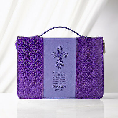 Purple Eternal Faith LuxLeather Bible Cover. FREE DELIVERY