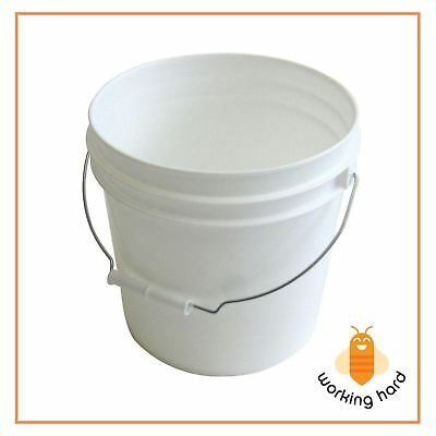 PAINT PAIL 2 Gallon Plastic Heavy Duty White Bucket With Metal Handle CASE OF 10