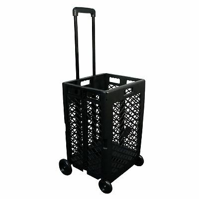 SHOPPING CART Portable Market Basket Rolling Grocery Storage Wheeled Utility