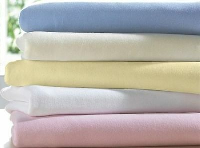 Cot Bed Sheet Snuggle Baby Pink Cream White 70 x 140 Cotton Fitted