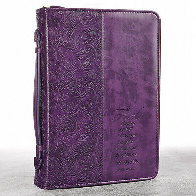 Purple Faith LuxLeather Bible Cover. FREE DELIVERY