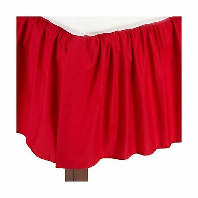American Baby Company 100% Cotton Percale Ruffled Crib Skirt Red
