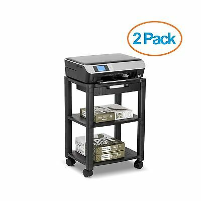 Halter LZ-308 Rolling Printer Cart Machine Stand with Cable Management - Hold...