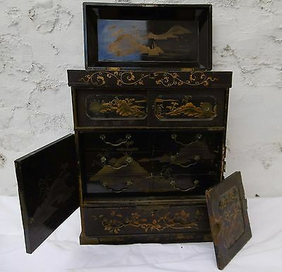 Chinese Lacquer Table Cabinet - For Restoration