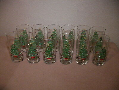 Set Lot Of 12  Home Interiors Christmas Drinking Glasses Tumblers