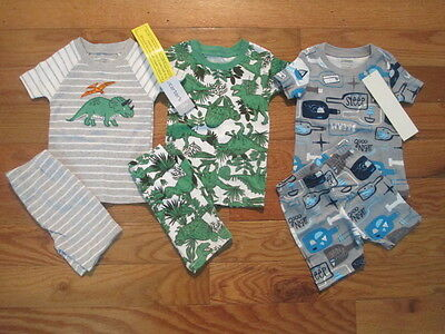 6 piece LOT of baby boy spring/summer pajamas size 12 12-18 months NWT