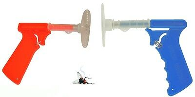 Fly Swatter Gun Spring Loaded Mosquito Mozzy Bug Insect Control Killer Swat
