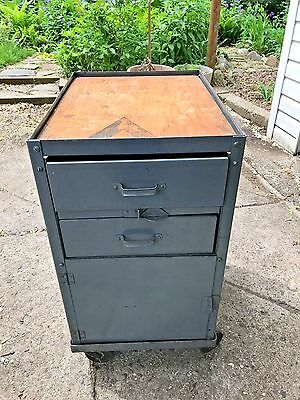 "VINTAGE MACHINIST LYON 2 DRAWER 18"" X 24"" X 29"" STORAGE CABINET on DOLLY,"