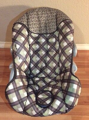 Baby Trend Ez Loc Infant Car Seat Cover Cushion Part Replacement Brown Green