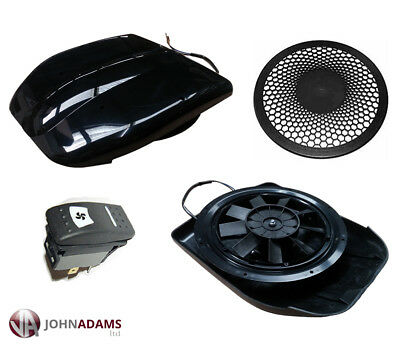 Low Profile Motorised Vent 12V Van Caravan Bus Roof Dog Horse Pet Black Grille