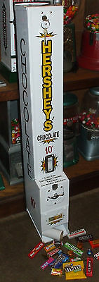 10 cent hershey's chocolate vending machine with key- candy gum arcade