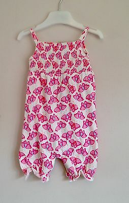 "John Lewis Baby Girls ""Butterfly"" Rompersuit 3-6 Months"