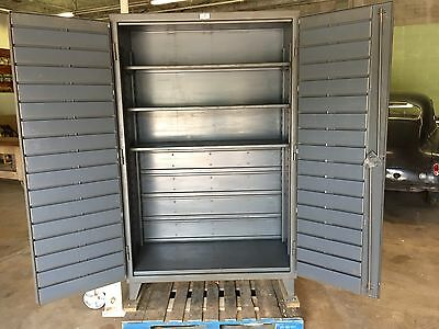 "Strong Hold Heavy Duty Cabinet 48"" x 24"" x 77.5"" Shelves, Bin Rack Receivers"