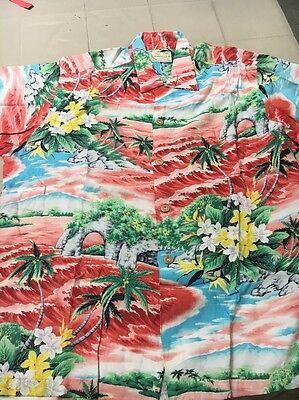 XL Pali Rayon Hawaiian Shirt Great Condition Vintage