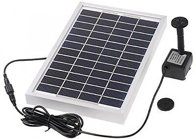 Solar Panel Powered Water Pump Cycle Pond Fountain Polycrystalline Silicon NEW