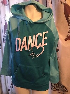 Justice Girls Size XXL 16 / 18 Dance Sparkle Hoodie Sweatshirt New With Tags