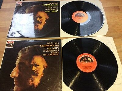 Brahms Vienna Barbirolli Nos. 1 & 2 ASD 2401 And 2421 Semi Circle
