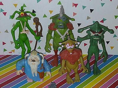 Lot of 5 vintage 1980s Star Wars Ewoks Cartoon Figures + Coin Set Logray Wicket