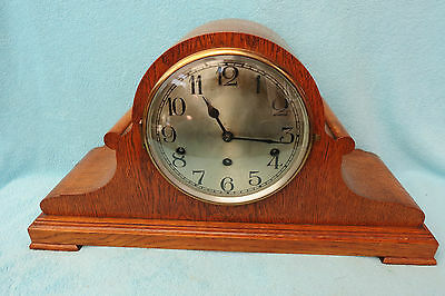 Very Large Oak Cased German Westminster Chime Mantel Clock For Spares Repair