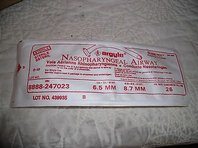 NEW BOX OF 10 ARGYLE NASOPHARYNGEAL AIRWAY 6.5mm 26 FR REF 247023 STERILE!  K2
