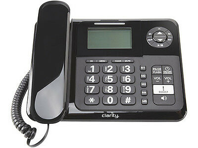 Clarity E814 Amplified Corded Phone with Digital Answering Machine - Black