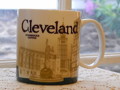 Starbucks Global Icon Collector Series Coffee Mug-Cleveland Ohio-Rare