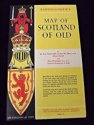 Bartholomew's  Map of Scotland of Old, by Sir Iain Moncreiffe & Don Pottinger
