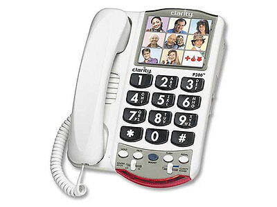 Clarity P300 Large Button Photo Phone - White