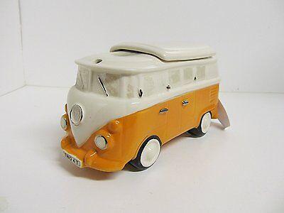 The Teapottery VW Camper Van Teapot ORANGE Large Size VERY RARE