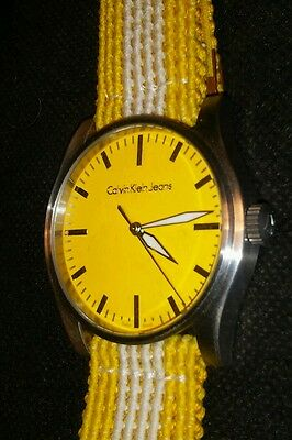 CALVIN KLEIN CK SWISS MADE CITY WATCH Large Design Keeps Accurate TIME - GLOWS