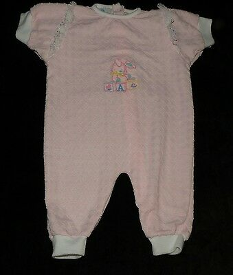 Adorable Vintage Terry Products Inc Baby Girl's Romper Sleeper Longall Medium