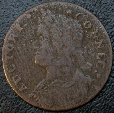 1788 16.6-H R.6 Connecticut Colonial Copper Extremely Rare