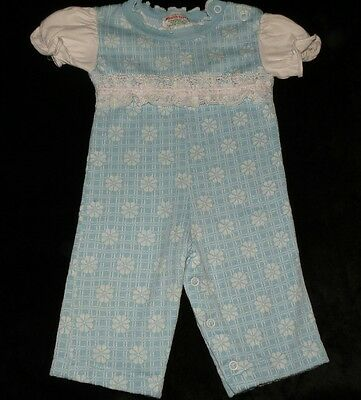Precious Vintage Healthtex Baby Girls Longall Sleeper Romper Evc 6 Months