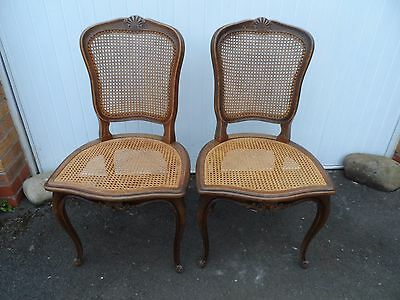 French Louis Style Caned Chairs (2)