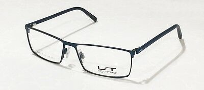 New Lightec Eyeglass Frame 7552L Blue Navy Stainless Steel 52/14/135 Spring Arms
