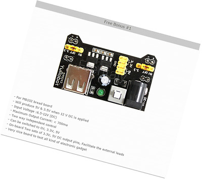 Frentaly Small 400 Tie Point Prototype PCB Breadboard + 65pcs Jump Cable Wires +