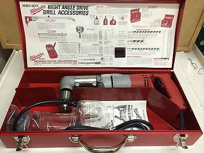 New Milwaukee 3002-1 Reversing Electricians Drill Kit Right Angle *Discontinued*
