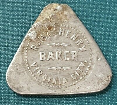RARE R. MacHENRY VIRGINIA CITY NEVADA BAKERY TRADE TOKEN L@@k.