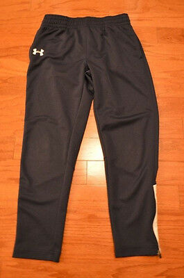 Boy's UNDER ARMOUR Navy Blue White Athletic Pants Size Youth XL