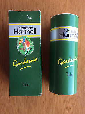 Vintage Norman Hartnell Gardenia Talcum Powder, Dusting Powder, Talc 1950s 1960s