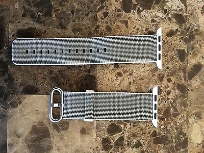 OEM 42 mm apple watch woven nylon band - pearl