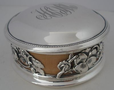 American Art Nouveau Sterling Silver Jewelry Ring Box By Alvin  C. 1905
