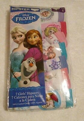 Disney Frozen Girls' Hipster Underwear- 7 Pack Size 8