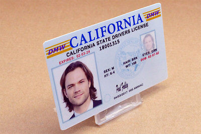 Supernatural prop costume cosplay - Sam Winchester California Driver's License