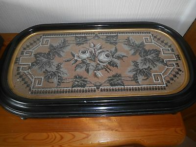 Victorian Beaded Fabric Table Stand
