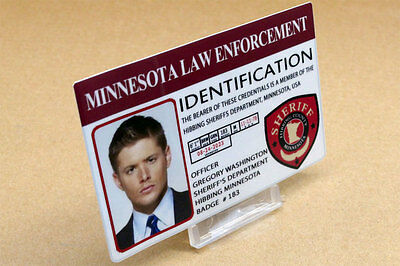 Supernatural prop costume cosplay - Dean Winchester Minnesota Police ID Card