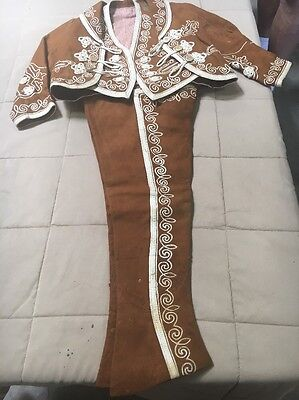 Antique Mexican Child's Charro Outfit Leather